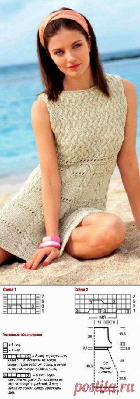 Узорчатая туника (Вязание на спицах и крючком) | Журнал Вдохновение Рукодельницы