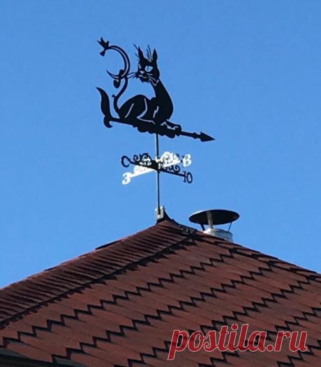 Красивый флюгер на крышу: примеры на фото