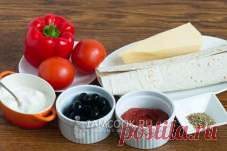 Ленивая пицца из лаваша — рецепт с фото пошагово