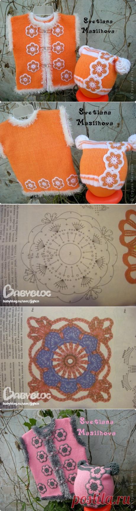Комплекты с цветочками для девчушек