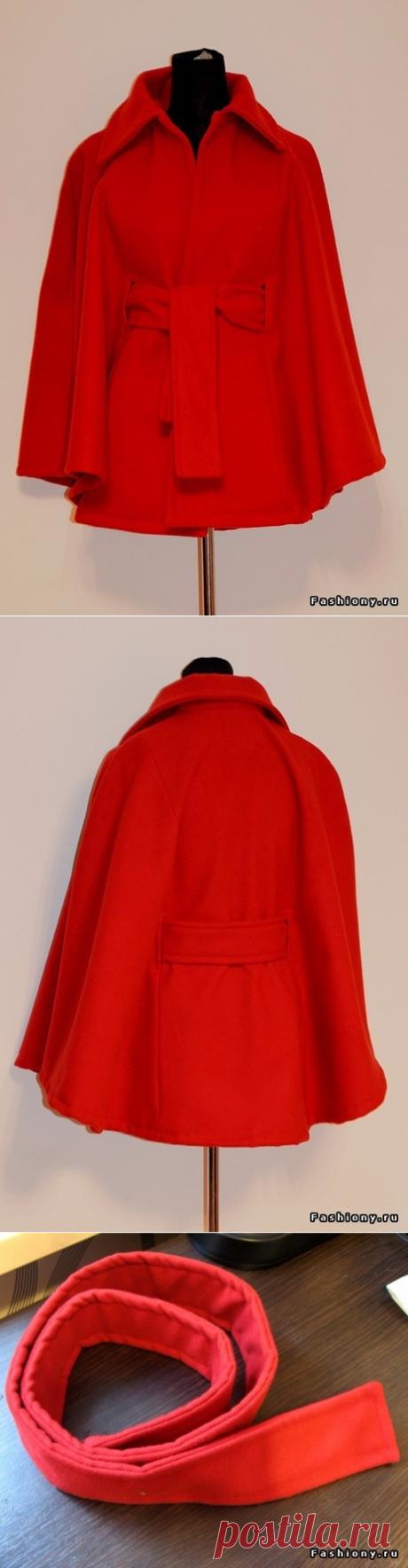Шьем модное пальто-кейп: мастер-класс и переделка устаревшего пальто в кейп — Сделай сам, идеи для творчества - DIY Ideas