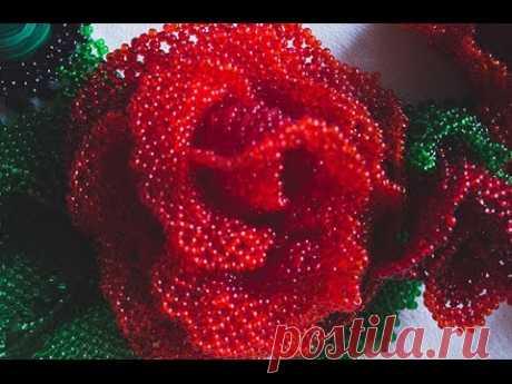 роза в технике ажурного плетения Support us on Patreon or paypal: https://www.patreon.com/olgasbeads paypal: mrs.olga.cojocaru@gmail.com Для финансовой поддержки: https://www.patreon.com/olg...