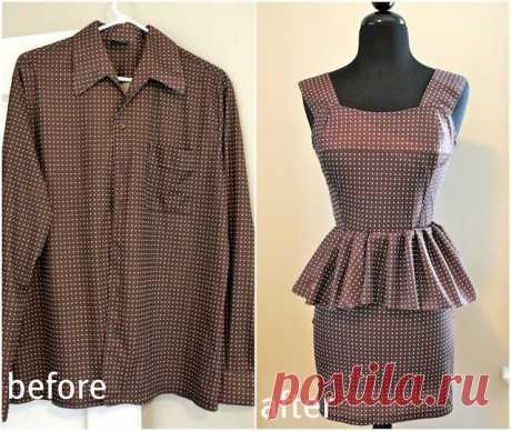 Платье из рубашки / Рубашки / Модный сайт о стильной переделке одежды и интерьера