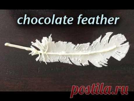 HowToCookThat : Cakes, Dessert & Chocolate | Chocolate Feather Decorations - HowToCookThat : Cakes, Dessert & Chocolate