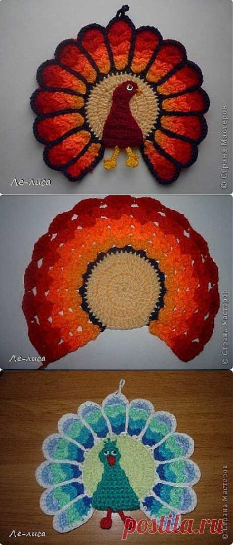 Вязаные вязаные прихвадки, вязание крючком - схема вязания, фото, описание