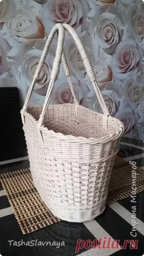 Плетеная сумка-корзинка своими руками!