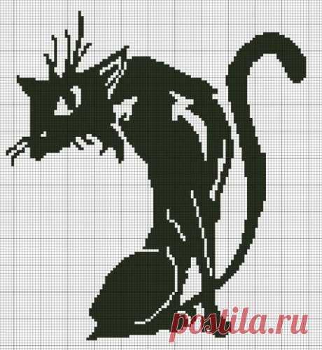 Узор «Кошки» для вязания и вышивки