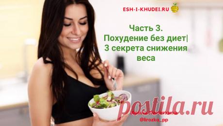 Похудение без диет | 3 cекрета снижения веса  Похудение без диет при соблюдении 3 секретов снижения веса. Продолжение бесплатного курса по нормализации работы кишечника и похудения без диет | 3 часть.