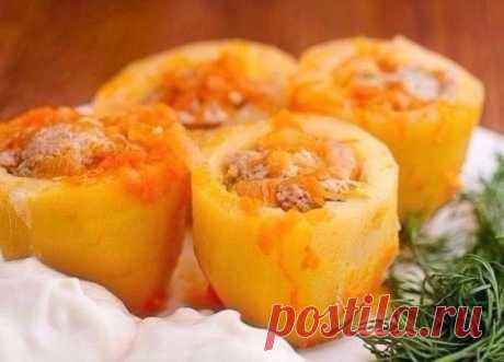 Как приготовить потрясающая фаршированная картошечка - рецепт, ингридиенты и фотографии
