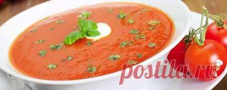 La sopa de los tomates en conserva - las Recetas muy sabrosas