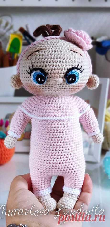 PDF Пупсы крючком. FREE crochet pattern; Аmigurumi doll patterns. Амигуруми схемы и описания на русском. Вязаные игрушки и поделки своими руками #amimore - Кукла, пупс.