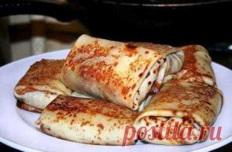 Блинчики с мясом и овощами - Вкусные рецепты
