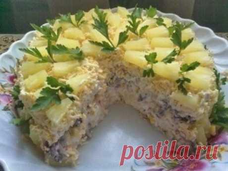 Как приготовить торт-салат «чудо-слойка» - рецепт, ингредиенты и фотографии