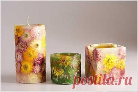Красивые свечи / Необычные поделки