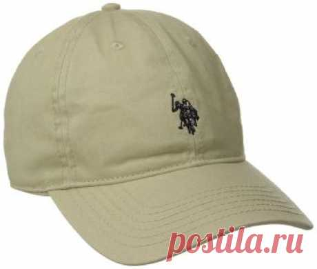 U.S. Polo Assn. Men's Small Solid Horse Adjustable Cap, Khaki, One Size at Amazon Men's Clothing store: