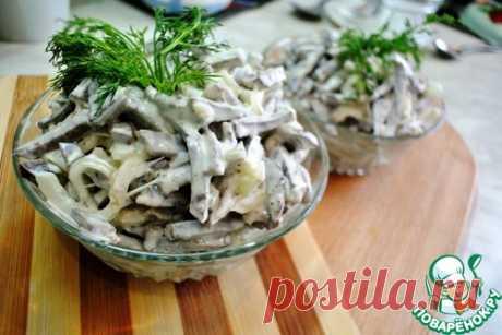 Салат из говяжьего сердца с маринованным луком – кулинарный рецепт