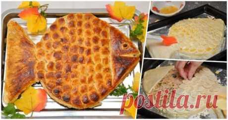 «Золотая рыбка»: рецепт ароматного и вкусного пирога с рыбой    Хотите порадовать семью или гостей чем-то вкусным и не совсем обычным? Тогда пирог «Золотая рыбка» для этой цели подойдет как нельзя кстати. Внимательно изучайте рецепт, закупайте продукты и спешит…