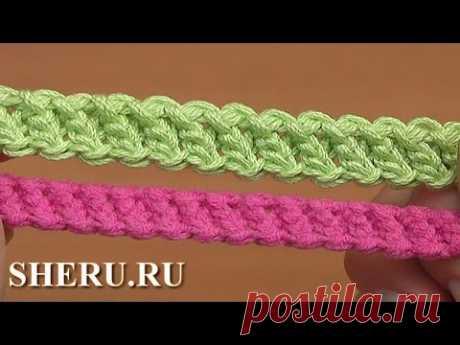 Шнур гусеничка связанный необычным способом Урок 94 Crochet Cord Romanian Lace - YouTube