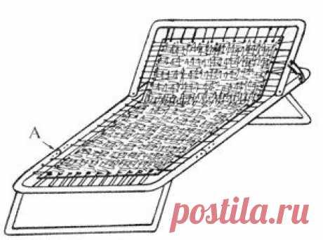 La tumbona de la cama plegable Para hacer la tumbona conveniente al descanso, bastante simplemente tomar la cama plegable vieja, destinada al lanzamiento, serrar por el serrucho y arrojar el medio de su armazón. Después de esto aseguren que se han quedado delantero y trasero se precipita las camas plegables por medio de los suplementos y los remaches (cm. El arroz). Quiten superfluo pruzhinki, el alambre, reduzcan hasta las dimensiones necesarias el toldo. ¡Y ahora descansen en la salud! ¡La casa inteligente - el rincón para el veraneante!