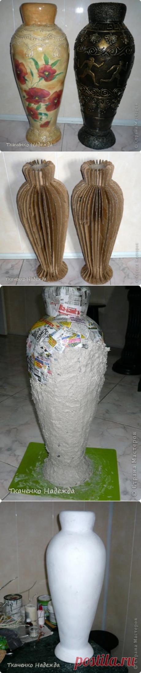 Напольные вазы из картона необычной красоты