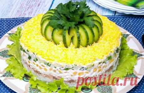 """Вкуснейший САЛАТ """"Диана"""" на праздничный стол! Коронное блюдо моей свекрови, мы его обожаем! Свекровь рассказала РЕЦЕПТ!   #ВкусноИнтересно   Яндекс Дзен"""