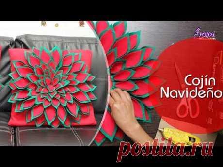 Cojín Navideño Paso a Paso - YouTube