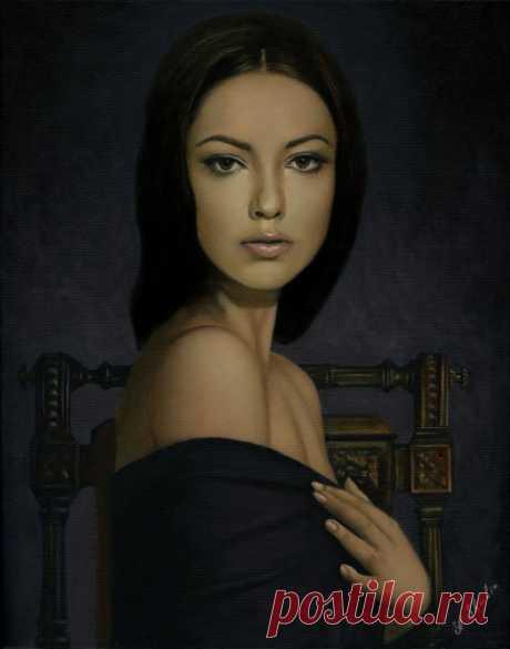 Ты женщина, которую нельзя забыть... ~ Художник Александр Шубин