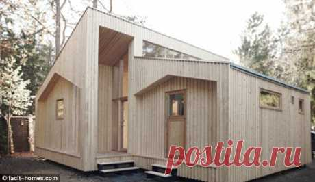 ¡A real DIY job! The flatpack house you can build yourself | Daily Mail Online