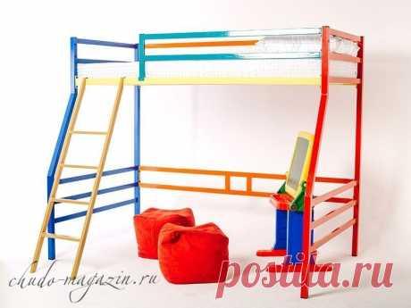 Кровать двухъярусная металлическая для детей КД-11