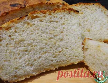 Хлеб без вымешивания с луком – кулинарный рецепт