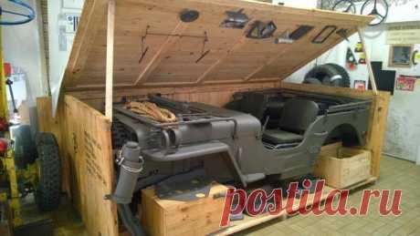 Willys MB Jeep «Виллис» в оригинальной упаковке (12 фото) | Чёрт побери
