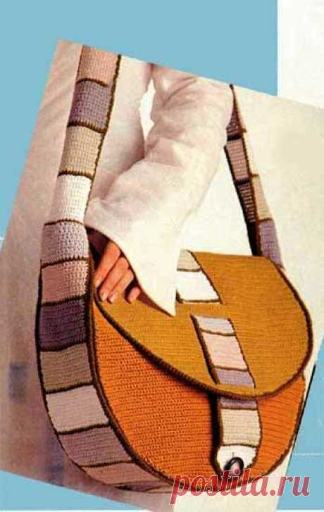 Стильная сумка связанная крючком.