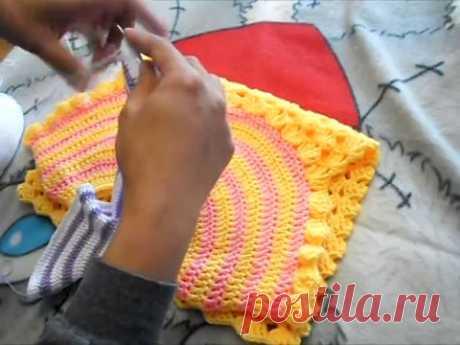 Платье крючком с круглой кокеткой. Часть 2. Основной узор. - YouTube