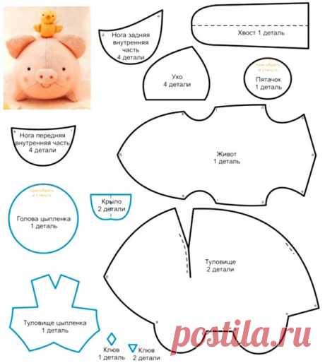 Свинья из ткани своими руками на Новый год 2019 - запись пользователя Рина_Модератор (Ирина) в сообществе Мир игрушки в категории Разнообразные игрушки ручной работы