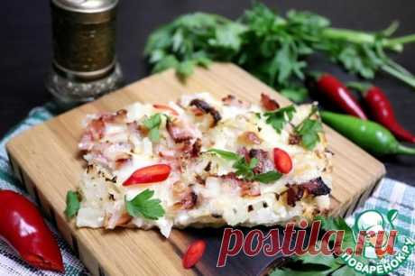 Фламмкухен с моцареллой – кулинарный рецепт