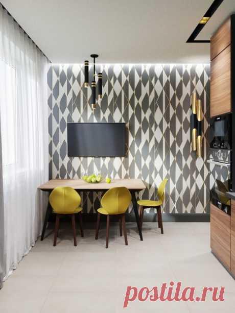 Проект квартиры 41,8 кв.м для молодой семьи в г. Москве Автор проекта — Шестова Юлия