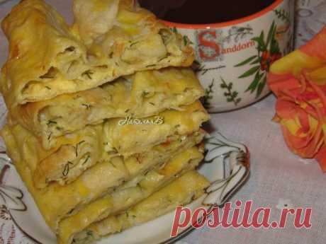 Вкусный завтрак — Лепешки из лаваша с сыром и укропом!