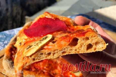 Цельнозерновая пицца , рецепт с ингредиентами: дрожжи свежие, вода, соль