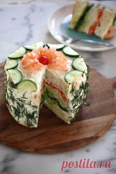 Бутербродный торт — Кулинарная книга - рецепты с фото