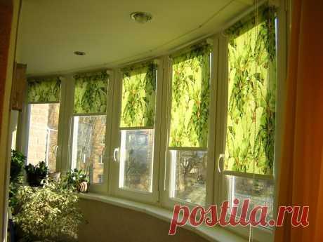 Как сшить рулонные шторы на пластиковые окна