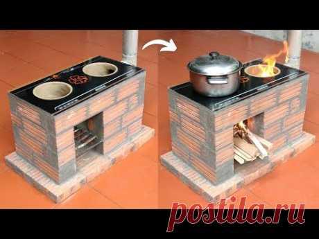Идея сделать дровяную печь из цемента - Печь для экономии дров