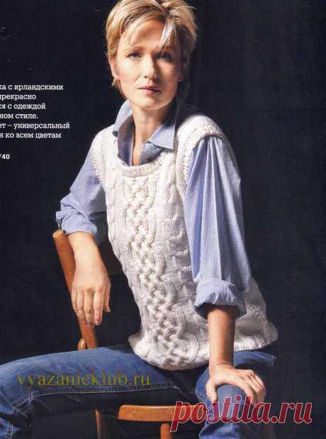 Безрукавка для женщин - Вязание спицами для женщин - Каталог файлов - Вязание для детей