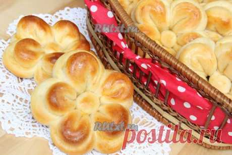 "Красивые булочки из дрожжевого теста ""Цветочки"" от Вероники Крамарь"