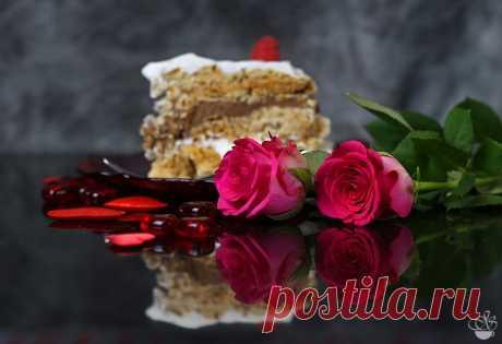 Торт безе с лесными орехами