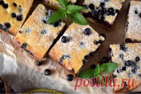 Нежный финский пирог с черникой: пошаговый рецепт приготовления