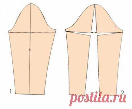 Изменение выкройки рукава при полных руках.   В этом случае, пройма в готовой одежде будет узкой.   Соответственно, будет «тянуть» в области проймы, создавая складки, заломы и неудобство в носке.   Если вы шьете сами по готовым выкройкам, данный дефект можно исправить ещё до раскроя, предотвратив неприятности при пошиве.   Для исправления узкой проймы и недостаточной ширины рукава в области плеча, предлагаю, для начала, выбрать «метод поворота».   Это специальный метод, ко...