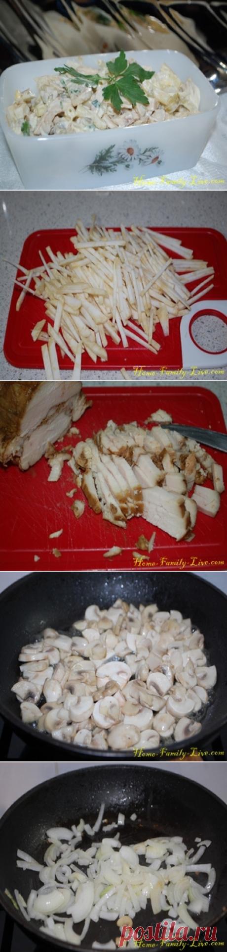 Салат с макаронами/Сайт с пошаговыми рецептами с фото для тех кто любит готовить