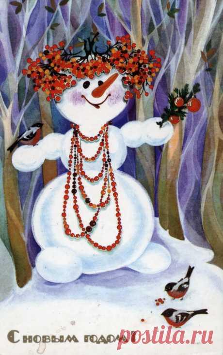 Ностальгия по детству в ожидании Нового года: открытки из личной коллекции   Журнал Ярмарки Мастеров