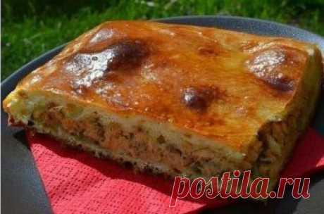 Рецепт - выручалка! Быстрый рыбный пирог с картофелем на скорую руку Прекрасный вариант для семейного чаепития!