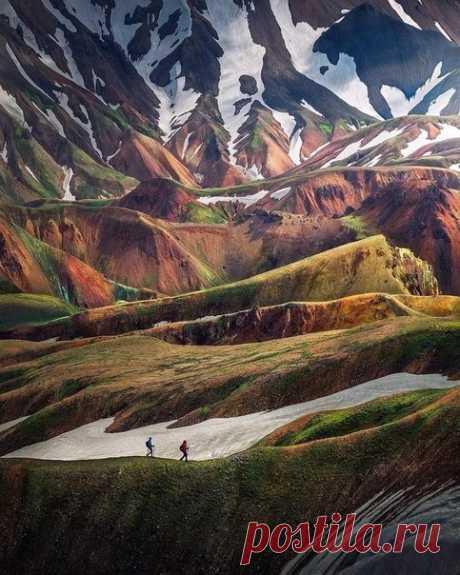 Красивое исландское нагорье.